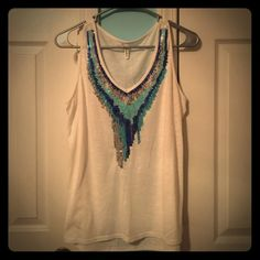 Sequin Tank Top Great casual tank top that can be worn as a little more upscale for all your summer nights out! Studio Y Tops Tank Tops