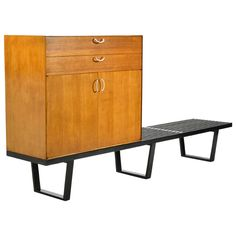 George Nelson Rare Early Cabinet by Herman Miller | From a unique collection of antique and modern cabinets at https://www.1stdibs.com/furniture/storage-case-pieces/cabinets/