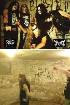 Helvete in 1992 / 2013: Mayhem/Darkthrone & Fenriz Darkthrone.