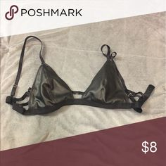 Pleather Bralette Good condition. Never really wore it. Forever 21 Intimates & Sleepwear Bras