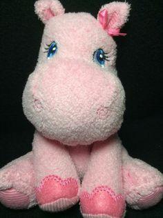 "Garanimals Pink Hippo Plush Soft Toy Baby 6"" Girls Lovey Stuffed #Garanimals"