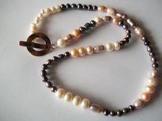 Abundance. Freshwater Pearl Necklace Multi by georgieandjetdesigns, $45.00