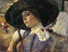 femme chapeau - (Edouard Vuillard)