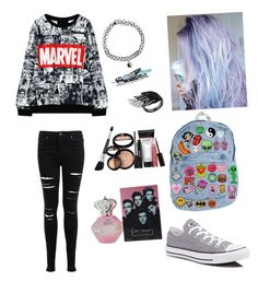 """""""Untitled #13"""" by jaysen-martin on Polyvore featuring Miss Selfridge, Converse, Accessorize and Laura Geller"""