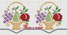 This Pin was discovered by Jul Cross Stitch Fruit, Cross Stitch Kitchen, Cross Stitch Borders, Cross Stitch Flowers, Counted Cross Stitch Patterns, Cross Stitch Designs, Cross Stitching, Diy Embroidery, Cross Stitch Embroidery