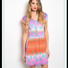 Fall Price Drop! Multi Color Pullover Dress