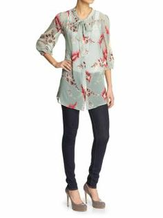 Trinity 3/4 Sleeve Tunic Top