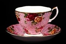 Royal Albert Old Country Roses Dusky Pink Lace Tea Cup & Saucer