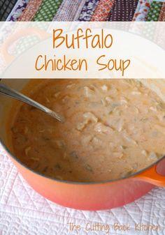 Buffalo Chicken Soup {gluten free}