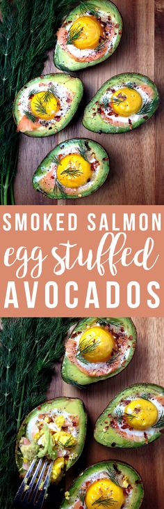 Smoked salmon and eggs stuff these avocados to bursting with healthy omega-3s!