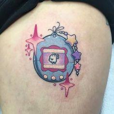Image result for tamagotchi tattoo 90s Tattoos, Fresh Tattoo, I Tattoo, Tatting, Ink, Tattoo Ideas, Manga, Tatuajes, Make Up