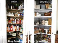 Construindo Minha Casa Clean: Despensas de Cozinhas Lindas!!! Veja 10 Dicas de Organização!