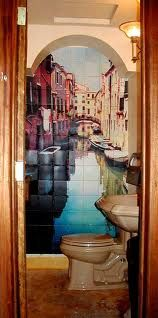 wall mural painted in squares