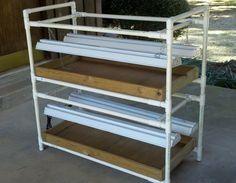 DIY PVC Grow Light Stand