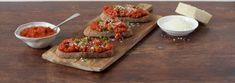 For a quick lunch or starter, our take on bruschetta is simple to make and full of flavour. Our sauce is full of ripe tomatoes, onion and peppers with just the right hint of chilli and garlic.  #bruschetta #tomato #sauce #pasta #pasta sauce #snack #flavour Tomato Bruschetta, Bruschetta Recipe, Italian Tomato Pasta Sauce, Tomato Sauce, Cheddar Cheese, Tray Bakes, Avocado Toast, Lunch, Stuffed Peppers