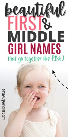 Looking for the perfect first and middle name combination for baby girls? I've put together a bunch of girl's first and middle names that sound beautiful together. These unique baby girl names just roll off the tongue and sound like a match made in heaven. Great baby name inspiration to help get you started if you're stuck on baby name ideas! #babynames #uniquebabynames #girlnames2020 Amazing Girl Names, Beautiful Baby Girl Names, Cool Baby Names, Unique Baby Names, Hippie Baby, Boho Baby, Middle Names For Girls, Strong Baby Names, Newborn Quotes