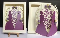 Civil Wedding Gatefold Card with Box GROOM GROOM on Craftsuprint - Add To Basket!