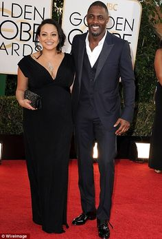 Cute couples: Iris Elba arrived with his pregnant girlfriend Naiyana Garth, while Bryan Cranston, again nominated for Breaking Bad arrived w...