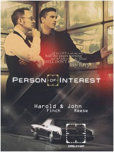 PERSON OF INTEREST Finch and Reese by Anthony258.deviantart.com on @DeviantArt