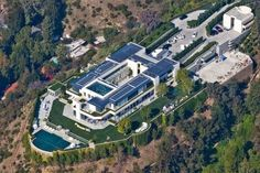 """The Pritzker Estate is a private residence located at 1261 Angelo Drive in the city of Los Angeles, in which the structure ranks as the second largest private residence. The enormous mansion was built between 2005 & 2011 for billionaire Anthony Pritzker, one of several heirs to the Hyatt Hotel fortune. Located in the exclusive Beverly Crest neighborhood, disapproving neighbors have dubbed the gargantuan home the """"Grand Hyatt Bel Air"""" in reference to its extraordinary size."""