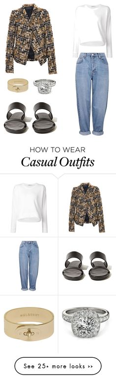 """Casual"" by kristinaibdk on Polyvore featuring Topshop, Haider Ackermann, T By Alexander Wang, Rick Owens, Allurez and Mulberry"