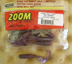 ZOOM BAIT COMPANY FAT ALBERT COTTON CANDY COLOR GRUB 3.25in BODY http://fishingbaitslures.com/products/zoom-bait-company-fat-albert-cotton-candy-color-grub-325in-body