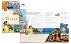 Italy Travel Brochure Template Design by StockLayouts Travel Brochure Design, Travel Brochure Template, Travel Design, Brochure Format, Brochure Examples, Travel And Tourism, Travel Usa, Disney Bags, Japan Travel
