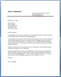 Cover Letter Sample For Internal Position Writing Program Manager
