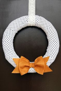 Link is for Halloween wreaths - I like this one to do a neutral welcoming wreath for those months when there's no real holiday involved but you want something cute on the door. Any color combination will work!