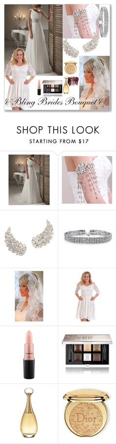 """& Bling Brides Bouquet & 8/II"" by nura-akane ❤ liked on Polyvore featuring Bling Jewelry, MAC Cosmetics, Givenchy, Christian Dior and vintage"