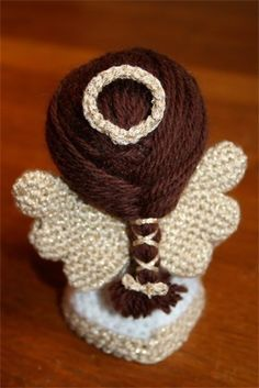 Crochet Pattern Paz the little angel amigurumi doll por Owlishly