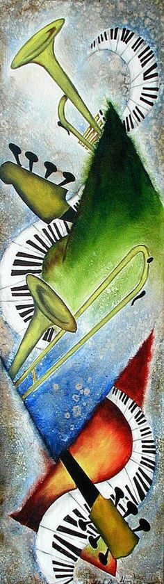 Music Arte Inspiration Musica Ideas For 2019 Jazz Art, Jazz Music, Music Love, Good Music, Music Artwork, Music Painting, Art Projects, Musicals, Music Instruments