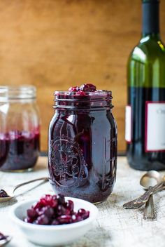 Cabernet Cranberry and Blueberry Sauce (vegan, GF) - Make your own cranberry sauce with amazing depth of flavor in 30 minutes! Easy recipe a...