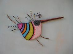 Ernest Hummingway, Original Found Object Sculpture, Wall Art, Wood Carving, Wall Decor, by Fig Jam Studio