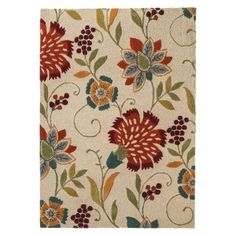 Threshold� Floral Wool Area Rug - These are my colors all woven into one pretty rug. And I found it on clearance in store!