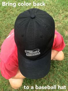 Are you wondering how to dye a baseball hat with sweat stains? Return all of the color to it permanently and easily with this simple tutorial! Mod Podge Crafts, Tape Crafts, Easy Diy Crafts, Crafts To Make, Tulip Colors, Sweat Stains, Color Spray, Diy Shops, Diy Hat