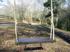 Our dark Kono Rustic Swing is another one of our popular swings. It takes 4 days to prepare the wood, distress it, and apply the finishing touches that add depth, beauty, and rugged durability to stand up to everything mother nature can throw at it.