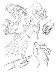 Auf folgende Seite finden Sie eine Anleitung für Hände zeichnen lernen für Anfänger. Hier sind verschiedene Beispiele, die sind sehr wichtig für Anfänger.