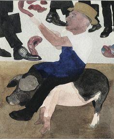 Butcher Benyon. Peter Blake. Courtesy Of Sir Peter Blake