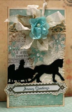 Happy New Year dear friends!! I have a winter themed card set featuring Glitz Design's Beautiful Dreamer Polka Papers for you today. Here's...