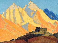Nicolas Roerich, peintre de l'Himalaya Landscape Art, Landscape Paintings, Krishna, Nicholas Roerich, Art Visionnaire, Russian Painting, Painting Art, Digital Museum, Mountain Art