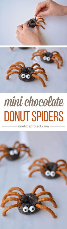 Mini Chocolate Donut Spiders