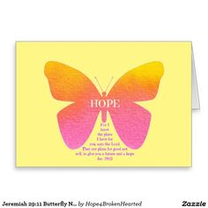 Jeremiah 29:11 Butterfly Note Card
