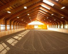 indoor horse riding arena to go with my dream home! For when I have my own horse....