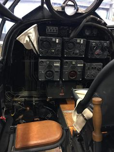 Cockpit detail of Gardermoen Ju 88 looking rearwards showing Bordschütze seat, Bordfünker seat and FuG 10 radiowall