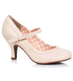 Bettie Page 'Bettie' Mary Janes - Nude [Special Order]