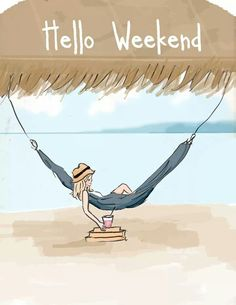 Yes, the perfect weekend - books, a hammock and a refreshing drink...