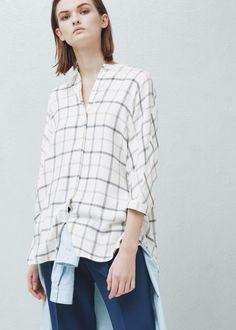 Chemise à carreaux - Chemises pour Femme | MANGO 45,99 €