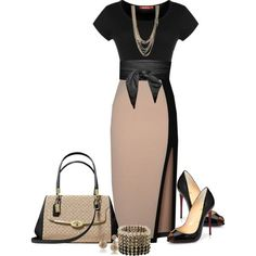 A fashion look from July 2014 featuring Miusol dresses, Christian Louboutin pumps y Coach handbags
