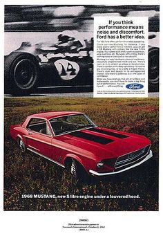 1968 Ford Mustang advertisement